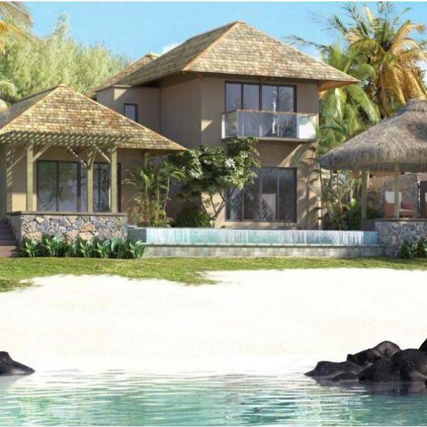 Investir à l'ile Maurice dans une magnifique villa F4 en RES pieds dans l'eau à Grand Gaube