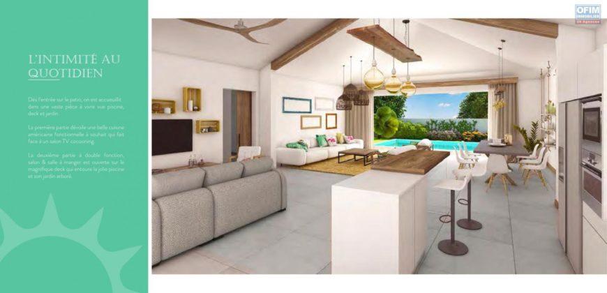 Villa F4 avec piscine ardoise, Grand Baie